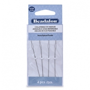 Beadalon Collapsible Eye Needles 6.4mm heavy argenté