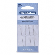 Beadalon Collapsible Eye Needles 6.4mm medium argenté