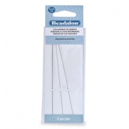 Beadalon Collapsible Eye Needles 12.7mm assorted argenté