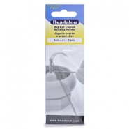 Beadalon big eye curved needle 9cm argenté