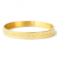 "Bracelets en acier inox ""YOU ARE ONE IN A MILLION"" doré"