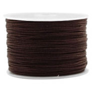 Fil macramé 1.0mm marron chocolat