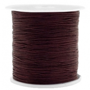 Fil macramé 0.5mm marron chocolat