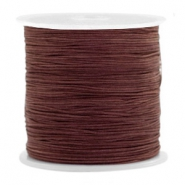 Fil macramé 0.5mm marron fauve