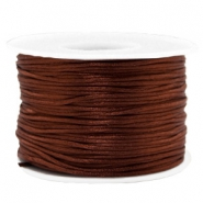 Fil macramé satin 1.5mm Marron chocolat