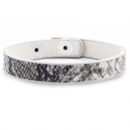Bracelets tendance serpent Gris anthracite