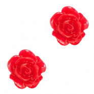 Perles roses 10mm Rouge sucette