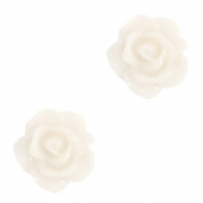 Perles roses 10mm Blanc glace vanille