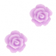 Perles roses 10mm Violet lilas pur