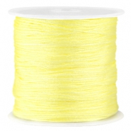 Fil macramé satin 0.8mm jaune tender
