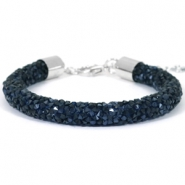 Bracelets Crystal Diamond 8mm bleu montana