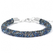 Bracelets Crystal Diamond 7mm Cristal-bleu métallique