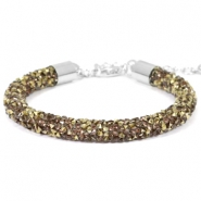 Bracelets Crystal Diamond 7mm greige-bronze