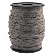 Paracord rond 4mm gris-noir marron