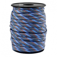 Paracord rond 4mm gris-bleu marron
