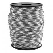 Paracord rond 4mm gris-blanc